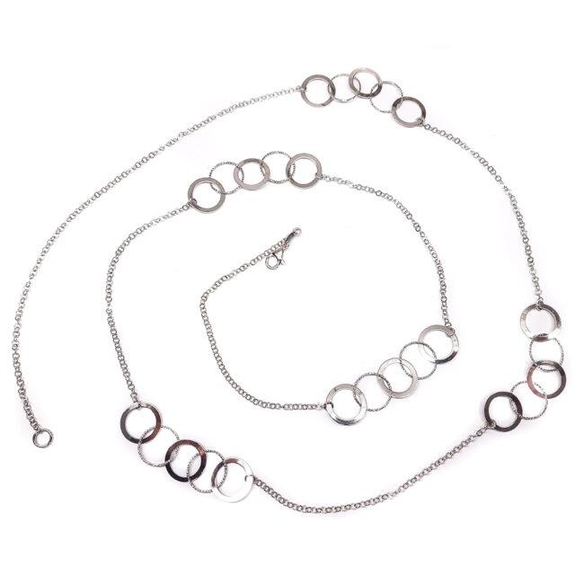 COLLANA-LUNGA-ANELLI-TONDI-IN-ARGENTO-925-RODIATO-CF01503SI100-GIOIELLERIA-BORSANI
